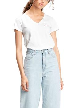 Camiseta Levis Perfect V-Neck Tee blanca de mujer