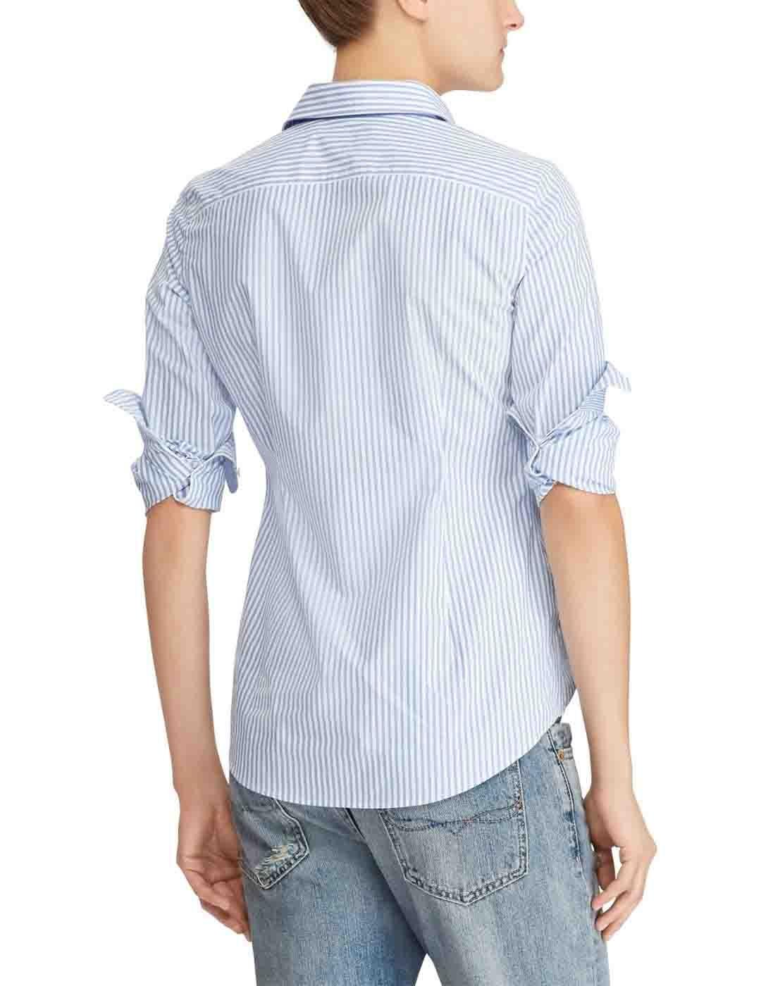 Polo Ralph Lauren camisa popelin rayas slim fit