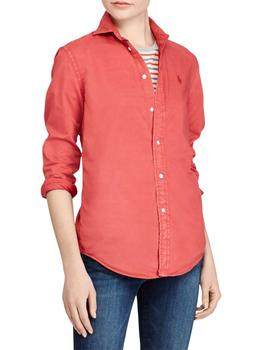 Camisa Polo Ralph Lauren Relaxed Fit teja para mujer