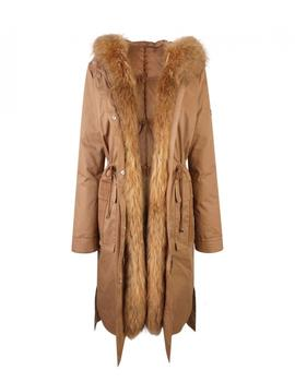 Parka doble Lion of Porches camel larga de mujer