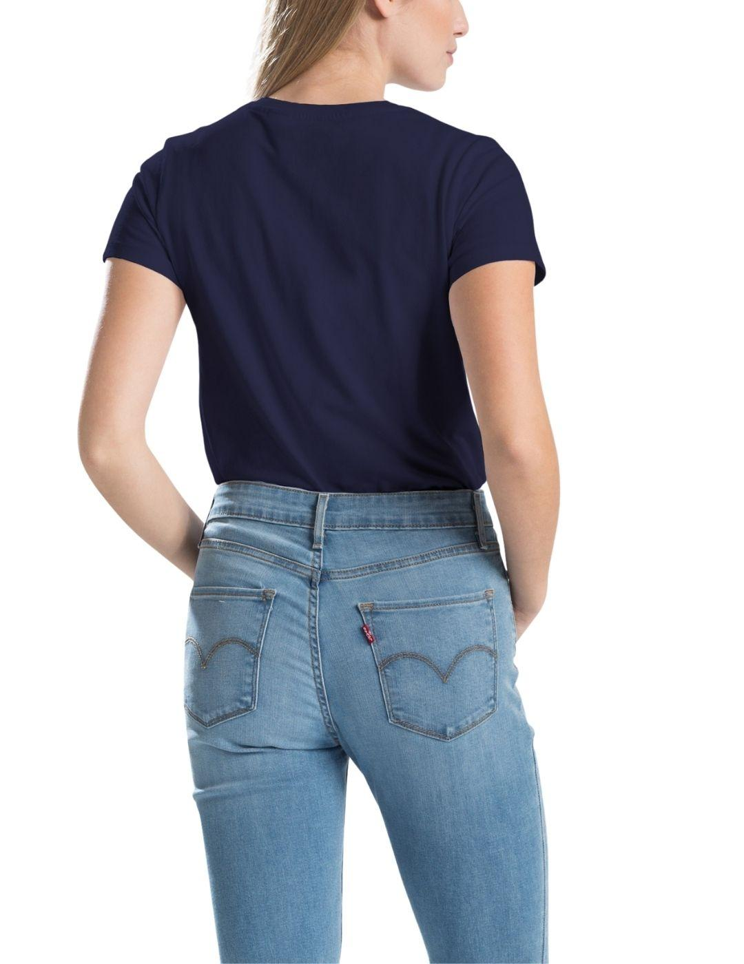 Camiseta Levis The Perfect Tee Sea Captain Blue de mujer