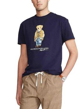 Camiseta Polo Ralph Lauren Polo Bear Custom Slim Fit marino