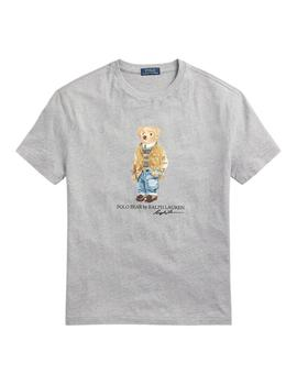 Camiseta Polo Ralph Lauren Polo Bear Custom Slim Fit gris
