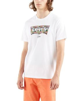 Camiseta Levis Housemark Grahpic Tee Fish Fill White