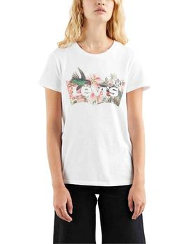 Camiseta Levis The Perfect Tee Batwing Fill Hummingbird Whit