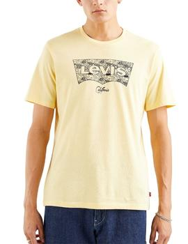 Camiseta Levis Housemark Grahpic Tee Fish Fill Golden Haze