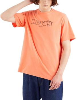 Camiseta Levis Relaxed Graphic Tee Logo Outline Coral Quartz