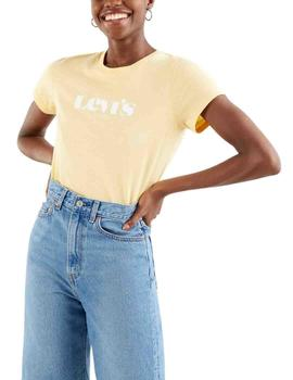 Camiseta Levis The Perfect Tee New Logo Outline Golden Hazee