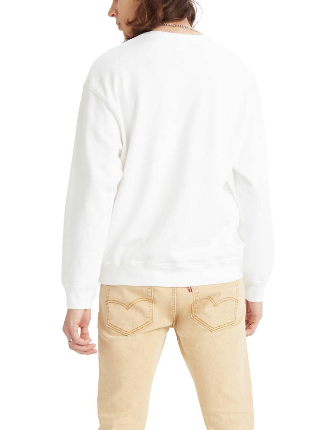Sudadera Levis Relaxed Graphic Crewneck - White