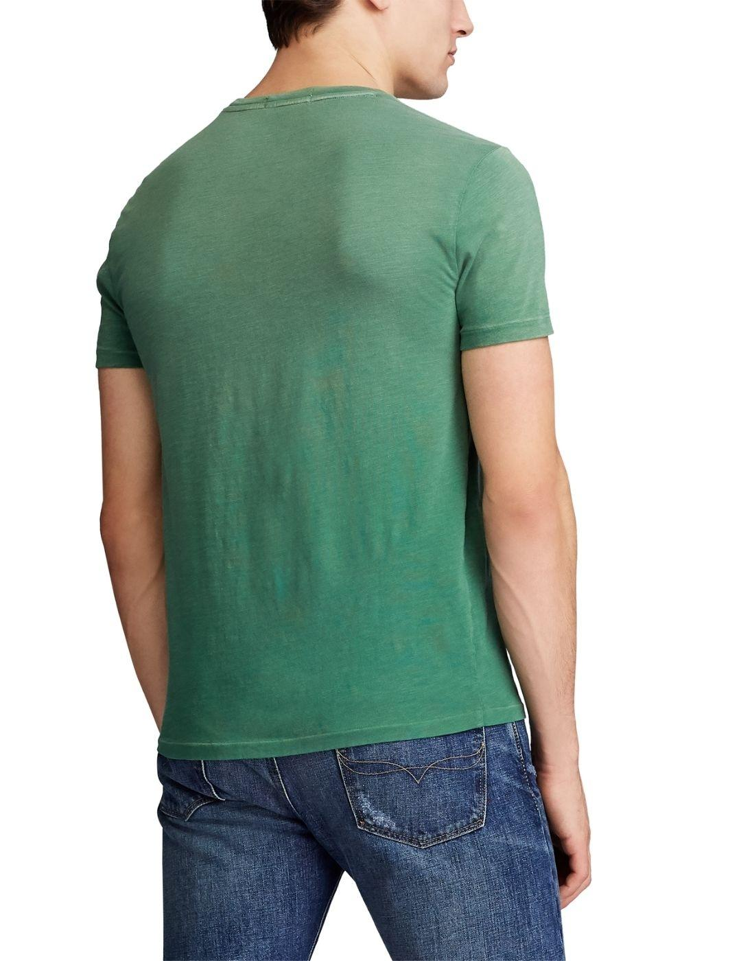 Camiseta Polo Ralph Lauren Custom Slim Fit verde de hombre