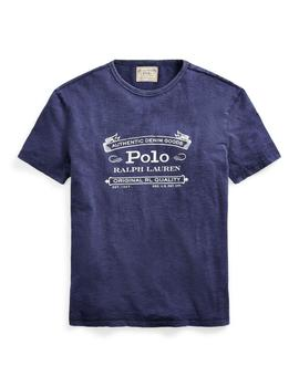 Camiseta Polo Ralph Lauren Custom Slim Fit azul de hombre