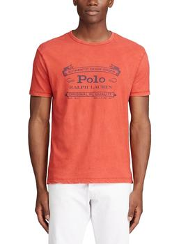 Camiseta Polo Ralph Lauren Custom Slim Fit roja de hombre