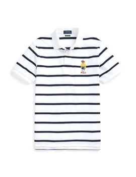 Polo Bear de Polo Ralph Lauren de piqué a rayas custom fit